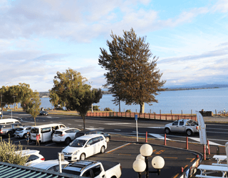 A million dollar view of the lake ,Taupo from Indian Delight Dining Table