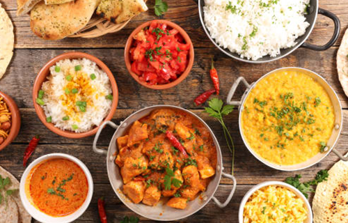 Explore the best of Indian Vegetarian Food Paneer Tikka Masala, Vegetable Korma / Butter Vegetables, Methi Malai Mutter, Shai Panner and many more